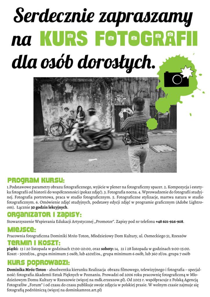 ulotka-kurs-fotografii dla dorosłych-11-2015